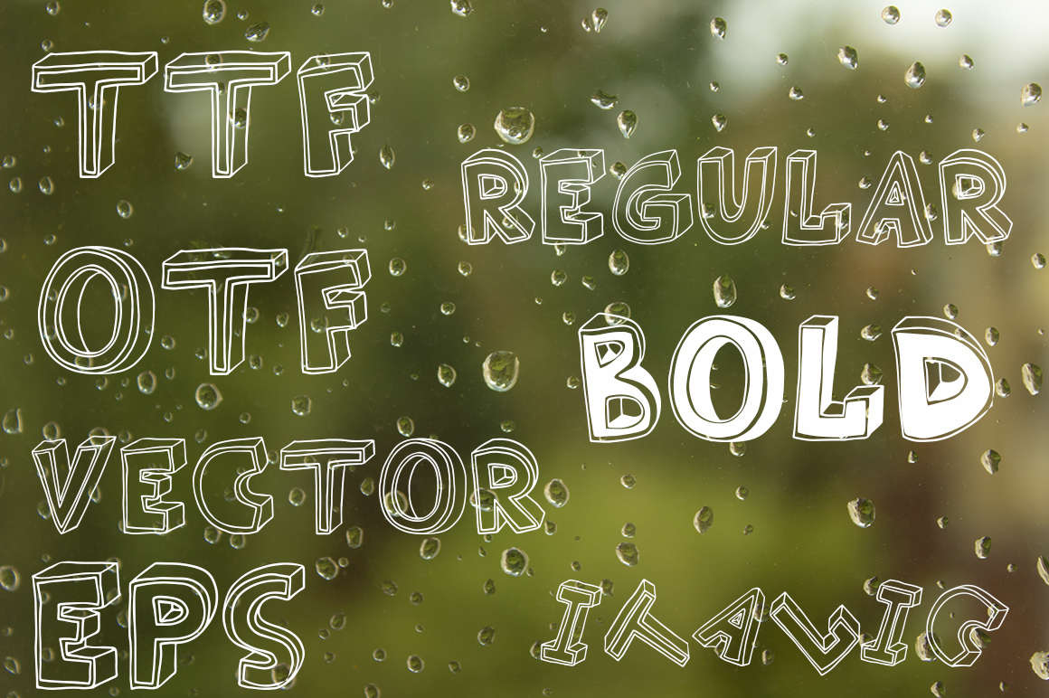 3D style sketch font example image 3