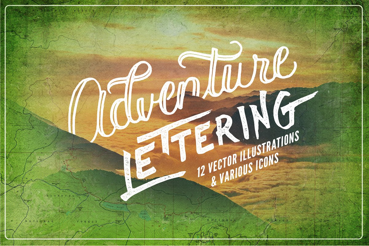 Adventure Lettering Illustrations example image 1
