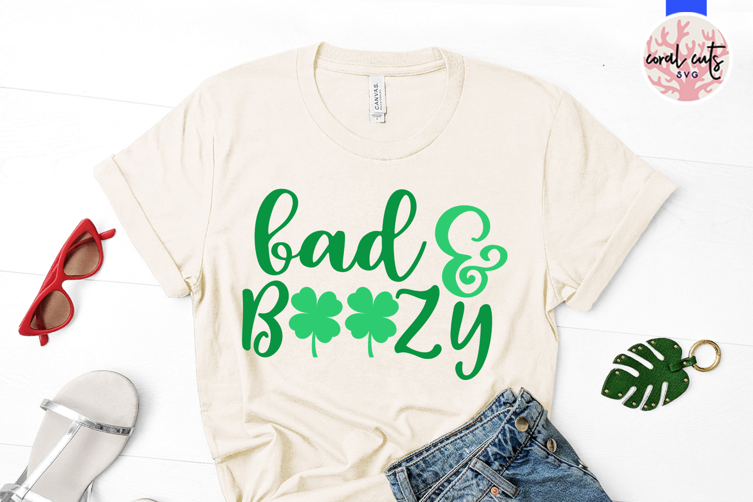Bad & boozy - St. Patrick's Day SVG EPS DXF PNG example image 2
