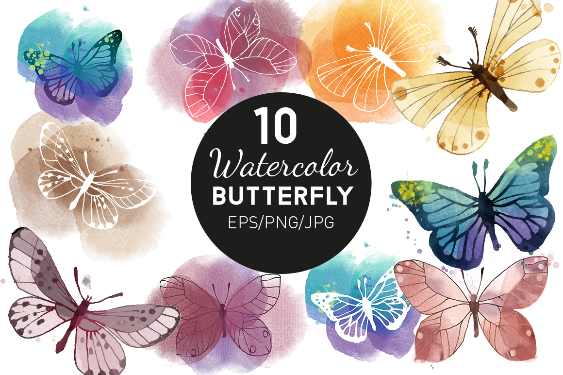 Watercolor butterfly example image 2