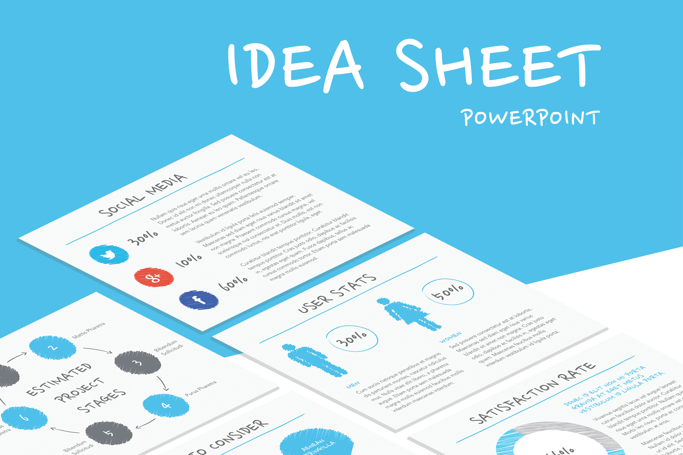 Idea Sheet PowerPoint Template example image 1