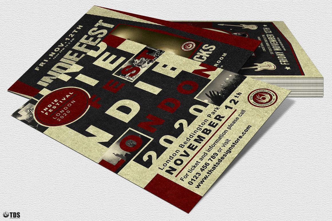Indie Live Festival Flyer Bundle example image 6