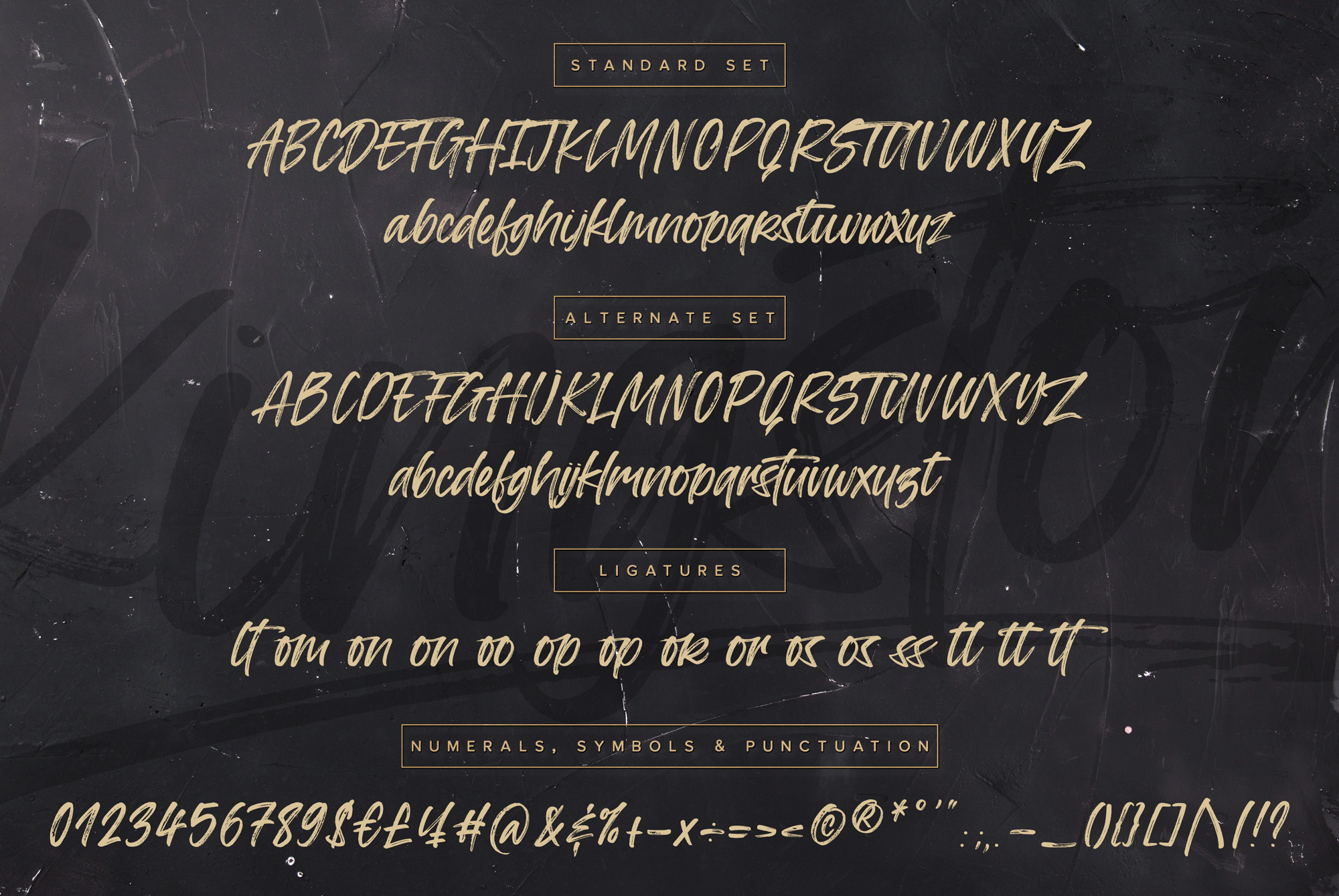 Kingston Handwritten Brush Font And Extras example image 11