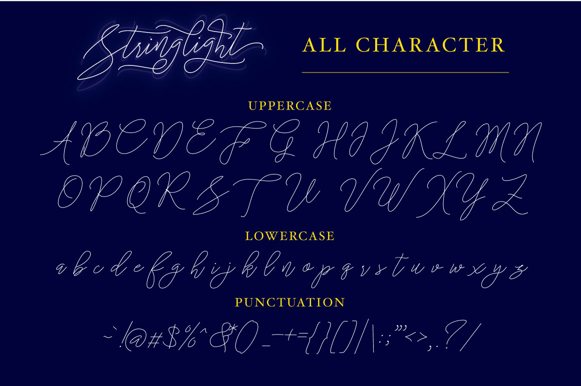 Stringlight Typeface example image 6