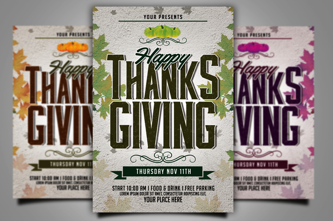 Thanksgiving Flyer example image 3