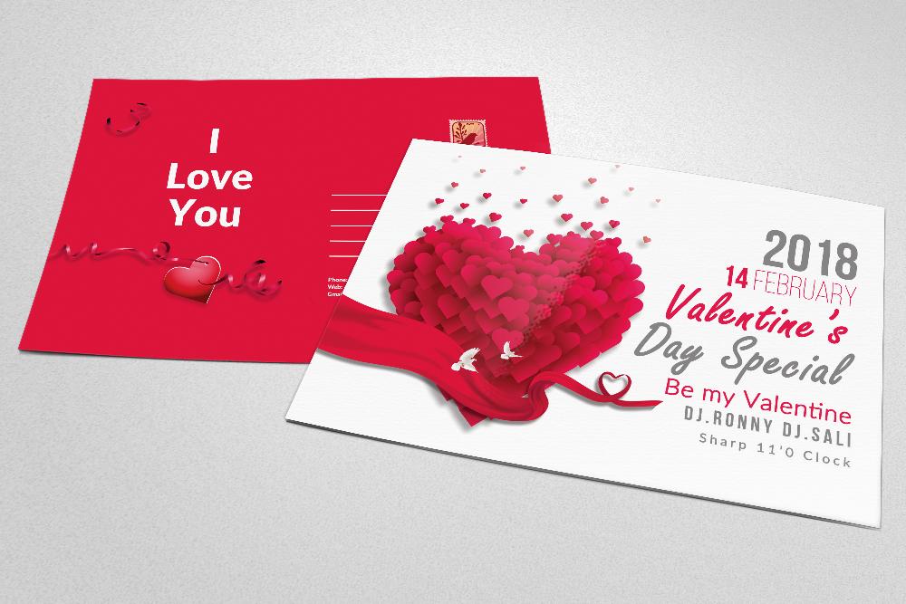 Valentine's Love Day Postcards example image 3