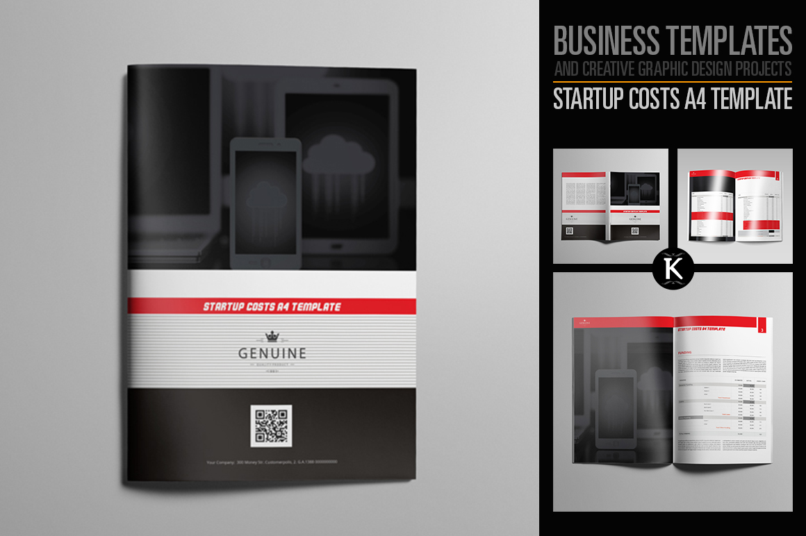 Startup Costs A4 Template example image 1