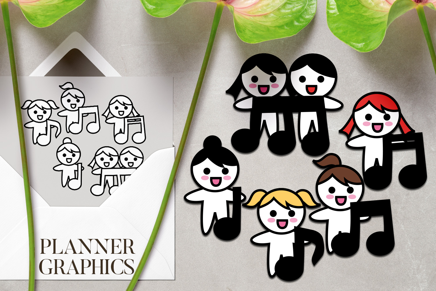 Hobby illustrations bundle - planner sticker graphics example image 8
