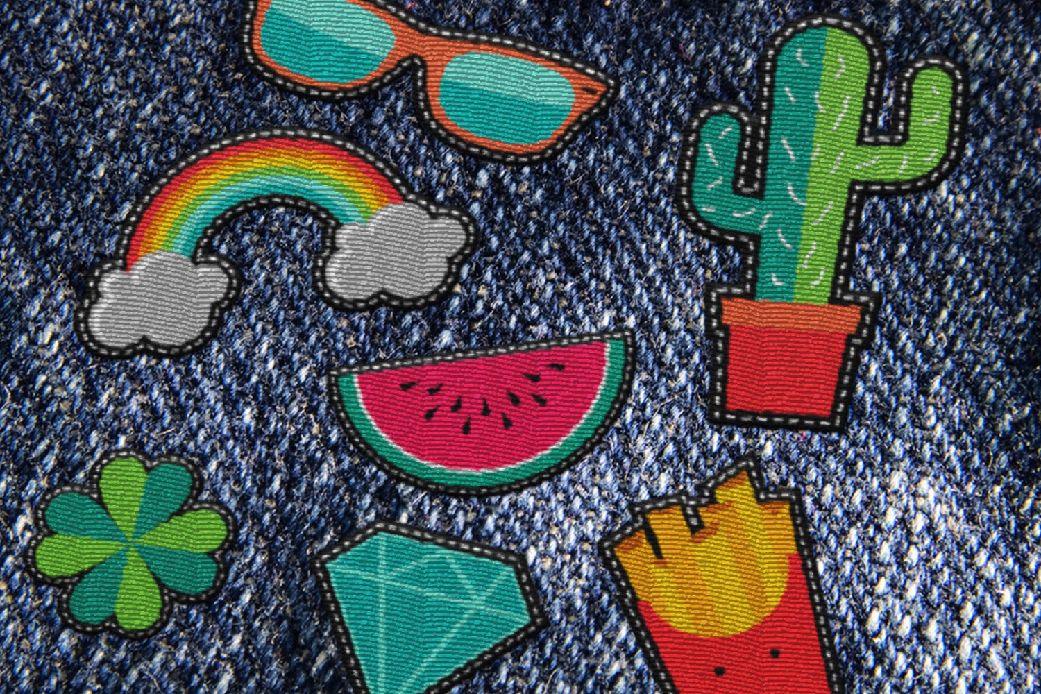 Trendy Patches: vintage 90's set! example image 9
