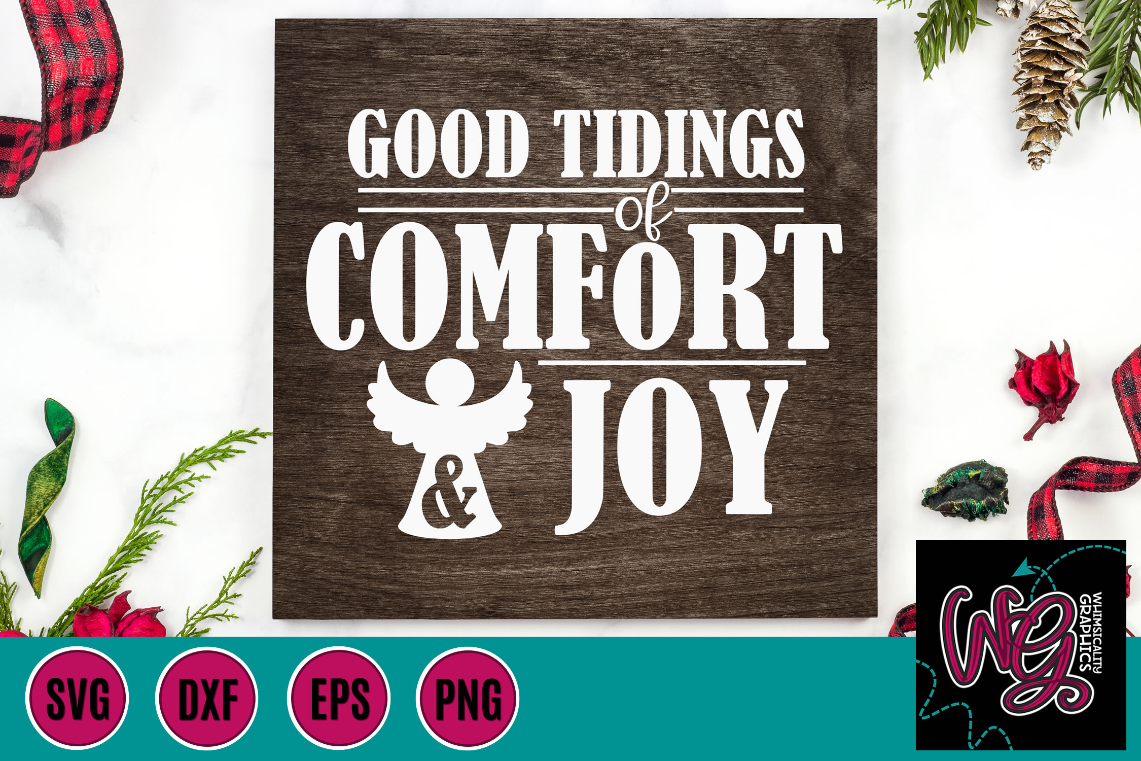 Christmas Hymns Bundle SVG, DXF, PNG, EPS example image 7