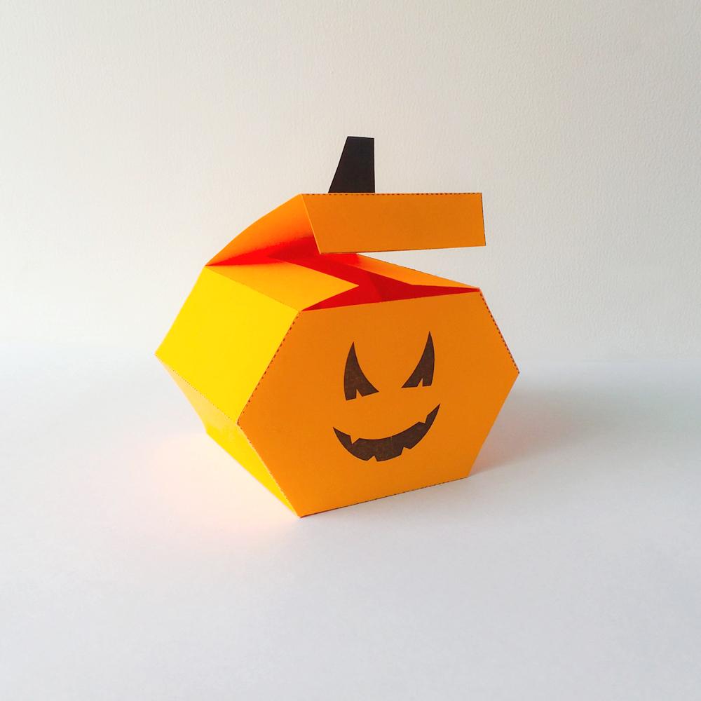 DIY Pumkin favor - 3d papercraft example image 6