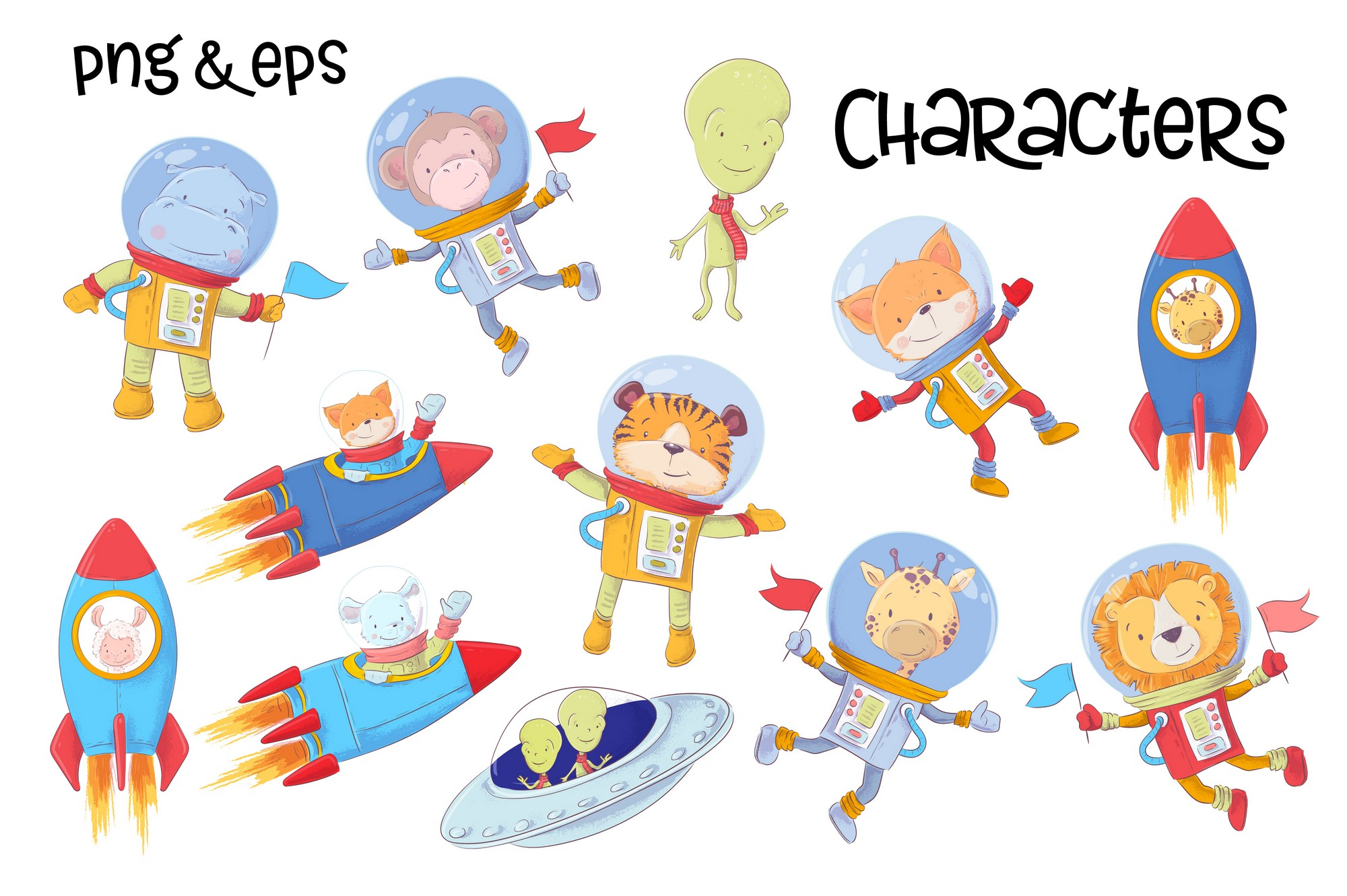 Space vector clip art example image 4
