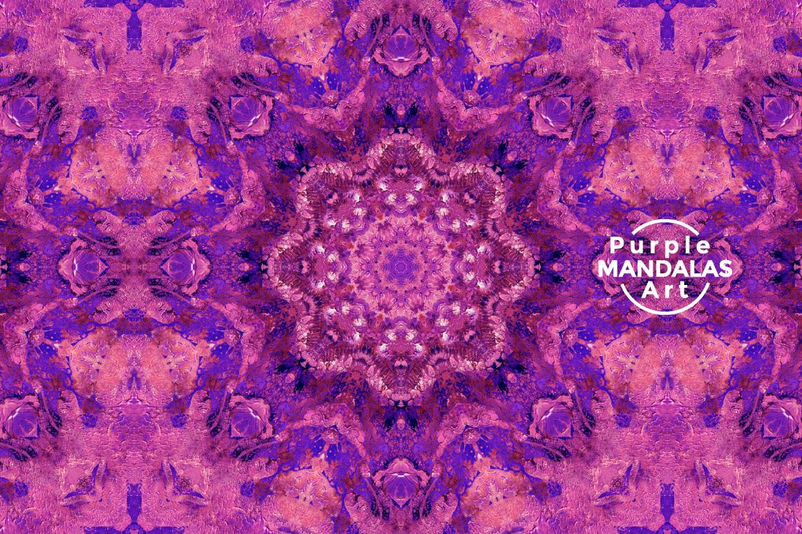 Purple MANDALAS Art example image 8