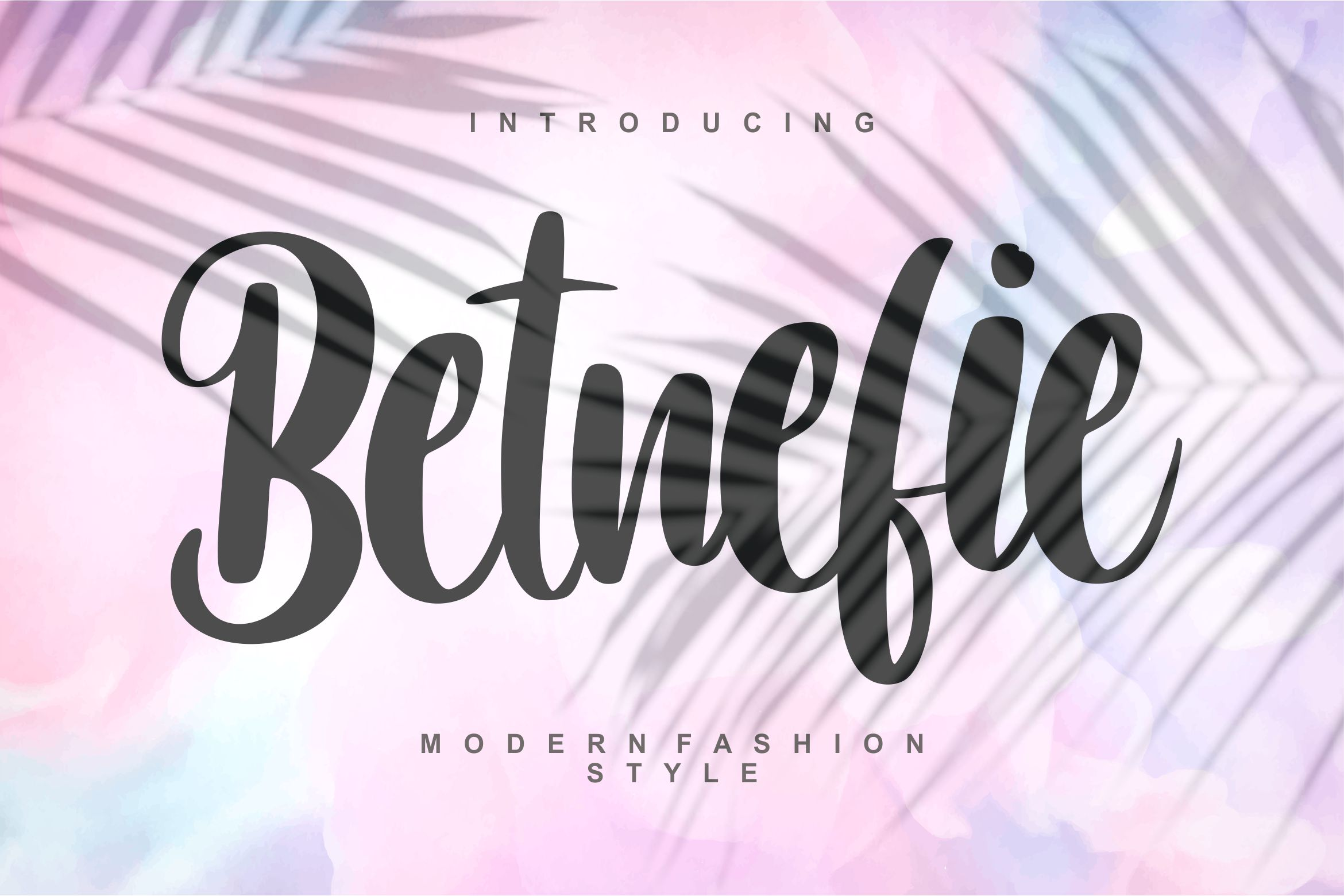 Betnefie | Modern Fashion Style Font example image 1