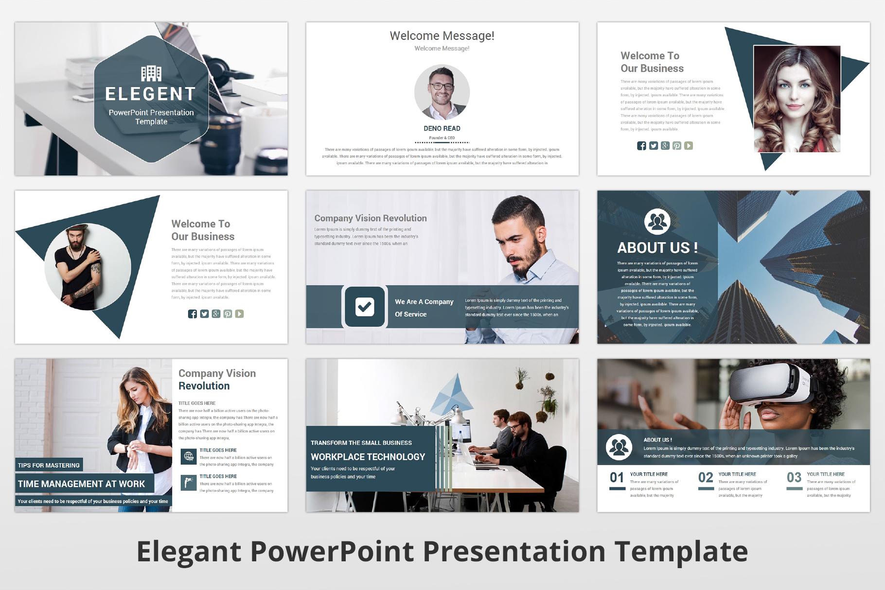 Elegant multipurpose PowerPoint Presentation Template example image 4