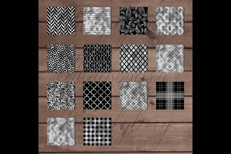 30 Seamless Black Silver Foil Basic Home Decor Print Pattern example image 7