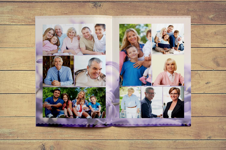 Levendar Funeral Program Template example image 4