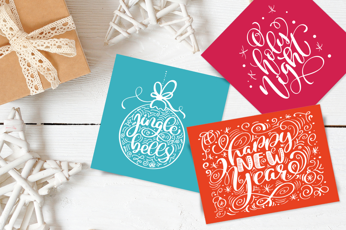 Christmas Lettering Phrases svg example image 5