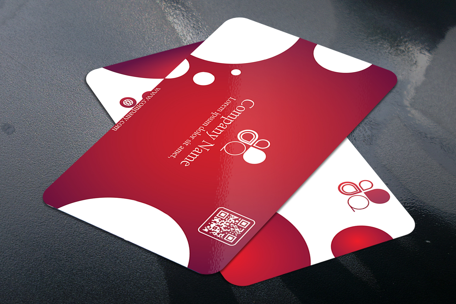 Business Card with Circle touch Visiting Card example image 3