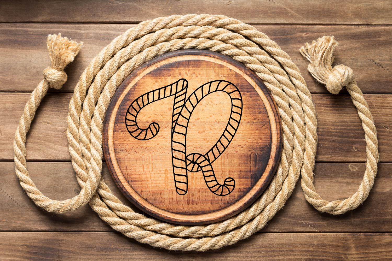 Rope Monogram - A Monogram Letter Trio! example image 3