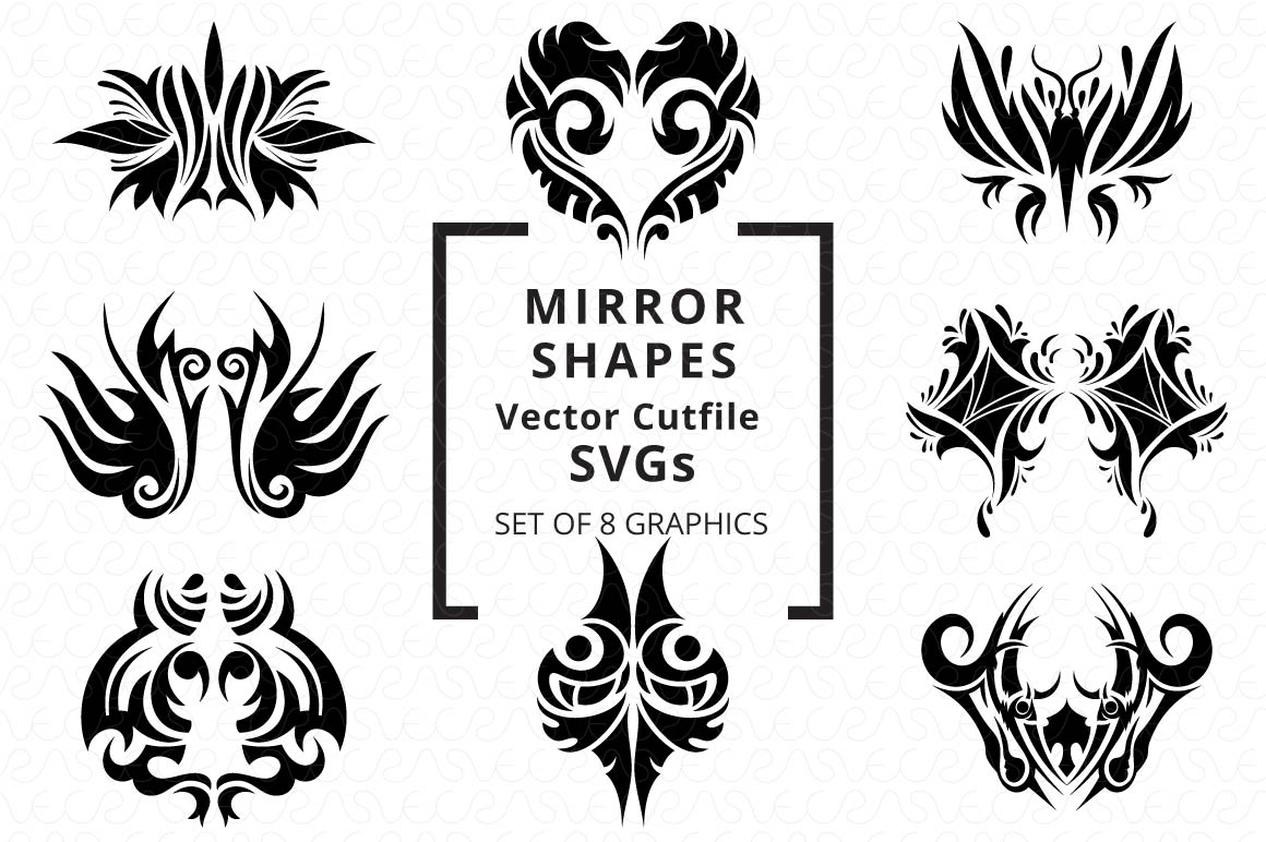 SVG Cutfiles Bundle-1 with 200 Unique Shapes example image 21