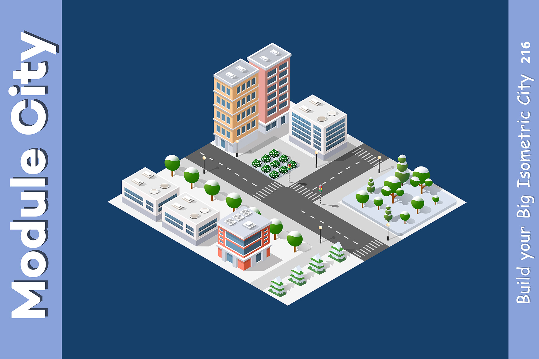 Isometric set module city example image 9