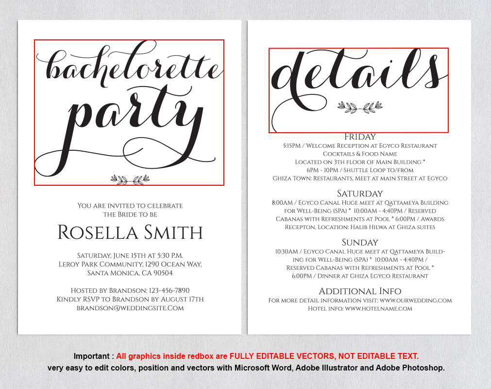 Bachelorette Party Invitations, TOS_50 example image 3