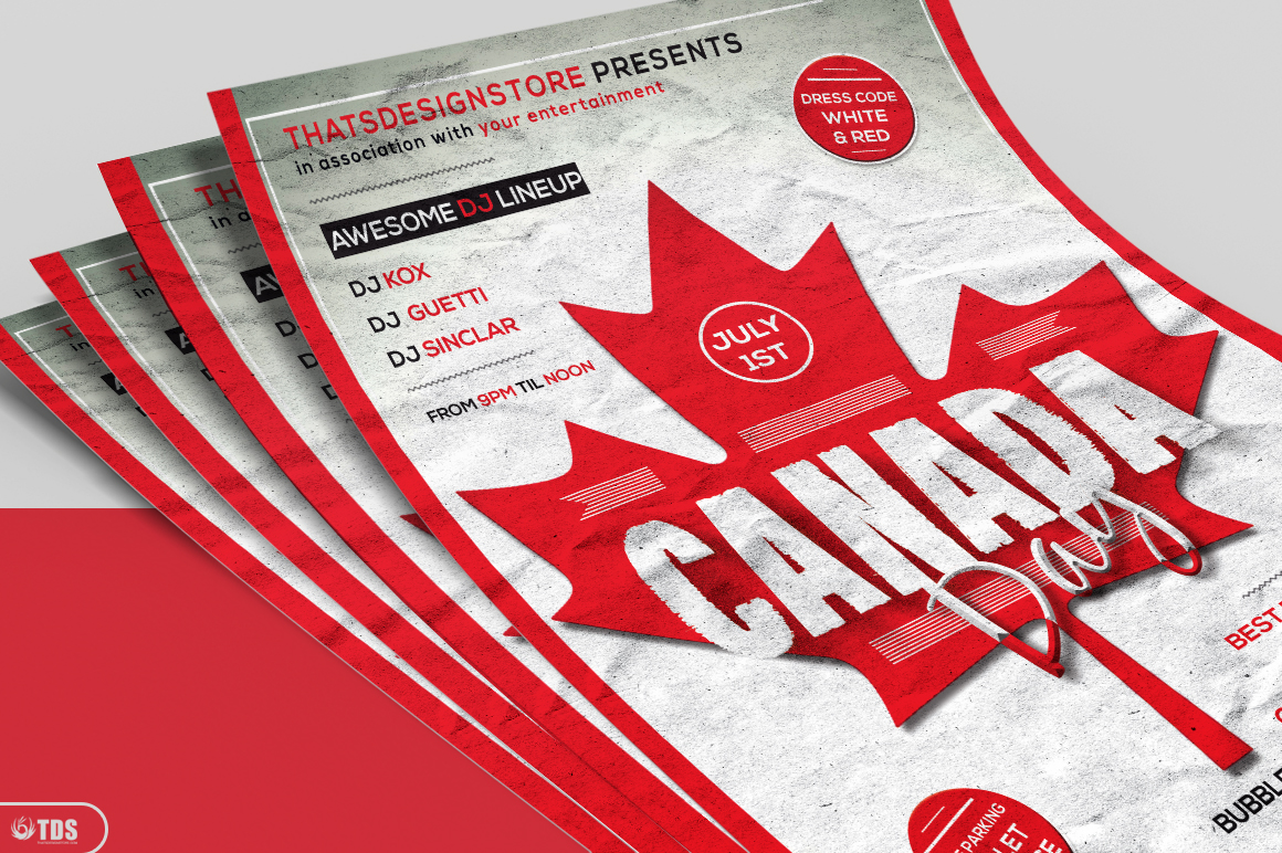 Canada Day Flyer Template example image 3