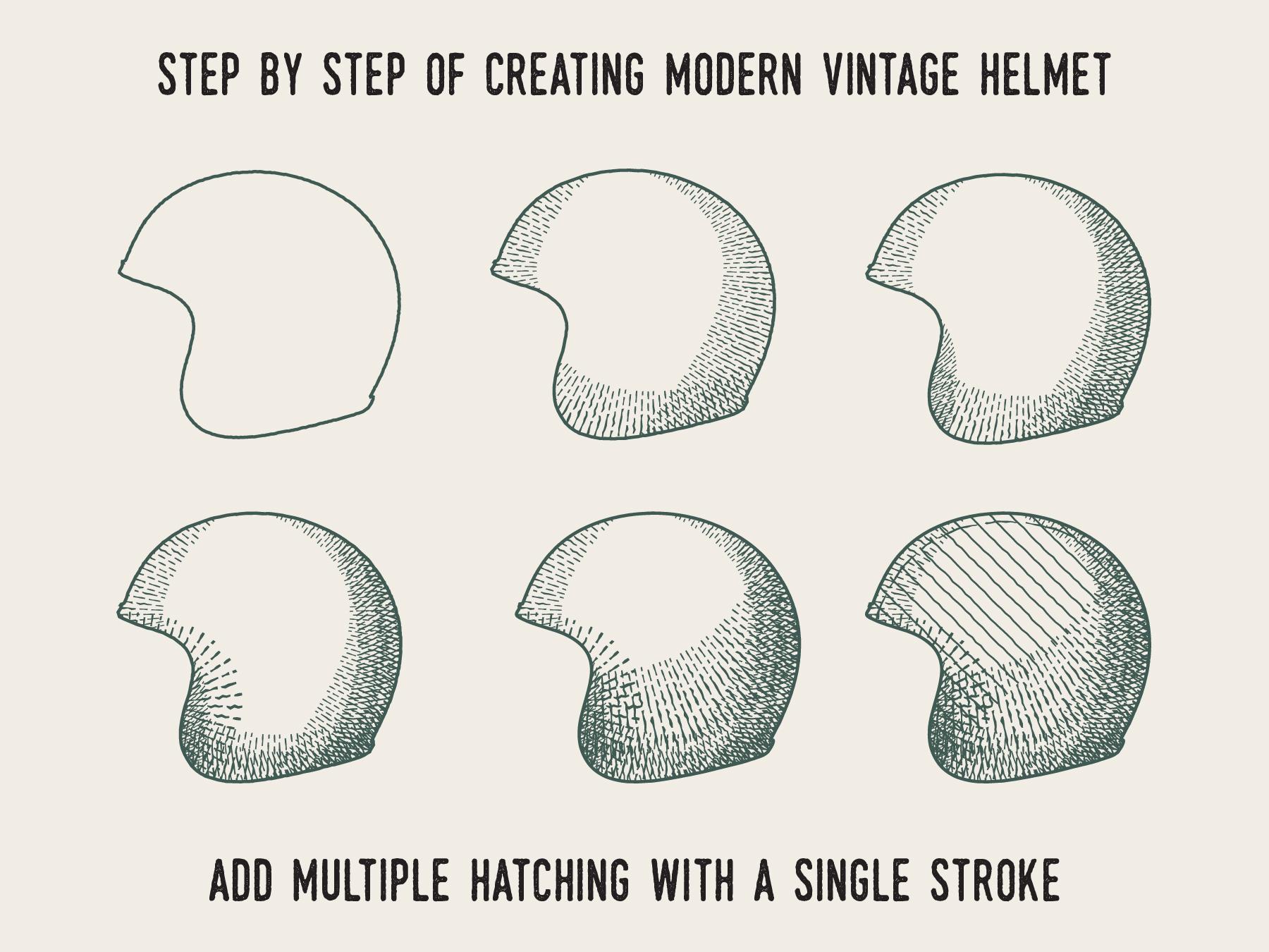 Modern Vintage Cross Hatch Brush example image 4