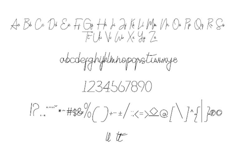 Sicilia Signature Typeface example image 2
