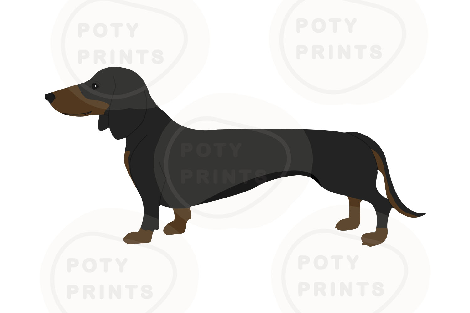 dachshund svg files for cricut example image 1