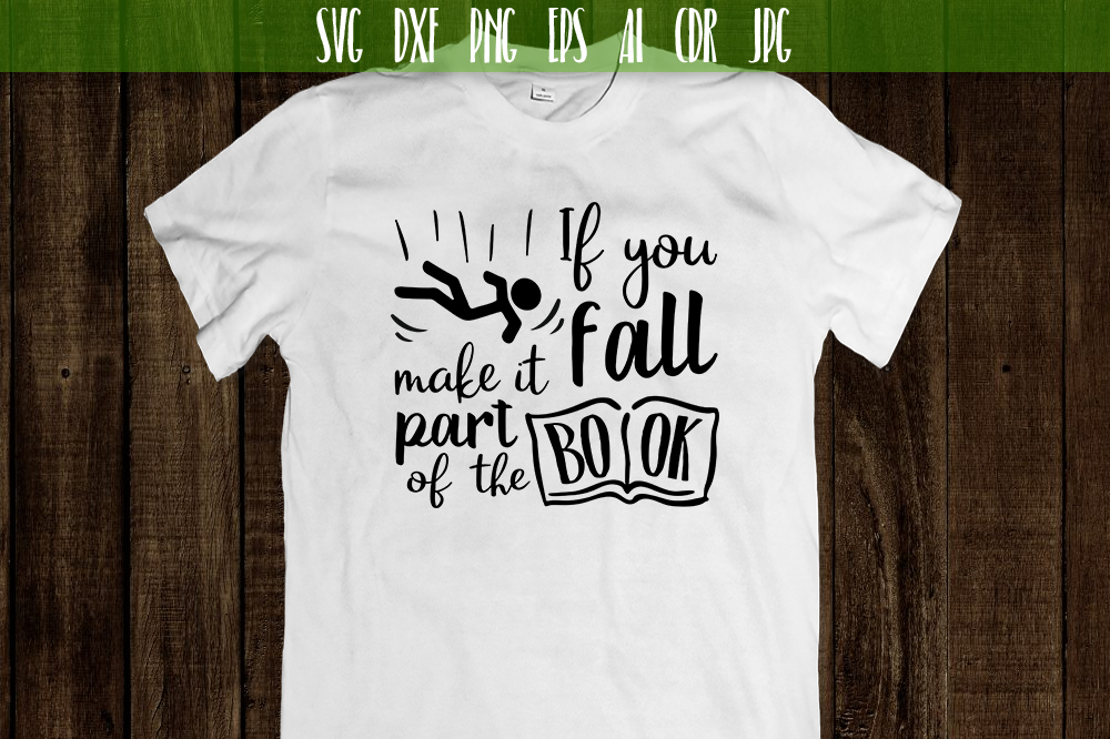 If you fall make it part of the book Vector typography example image 2