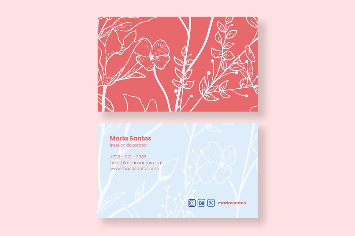 Interior Decorator Business Card example image 3
