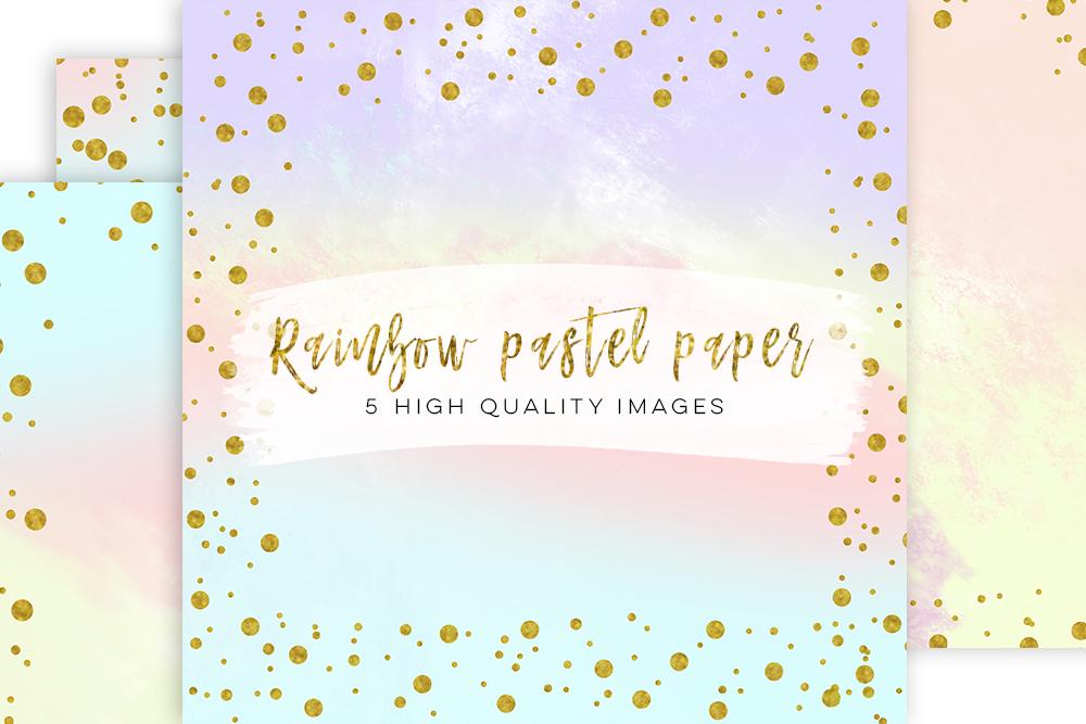 Digital scrapbook paper, Modern confetti gold prints, Gold Patterned paper, confetti border gold pastel paper, Paris paperie, pastel design example image 3
