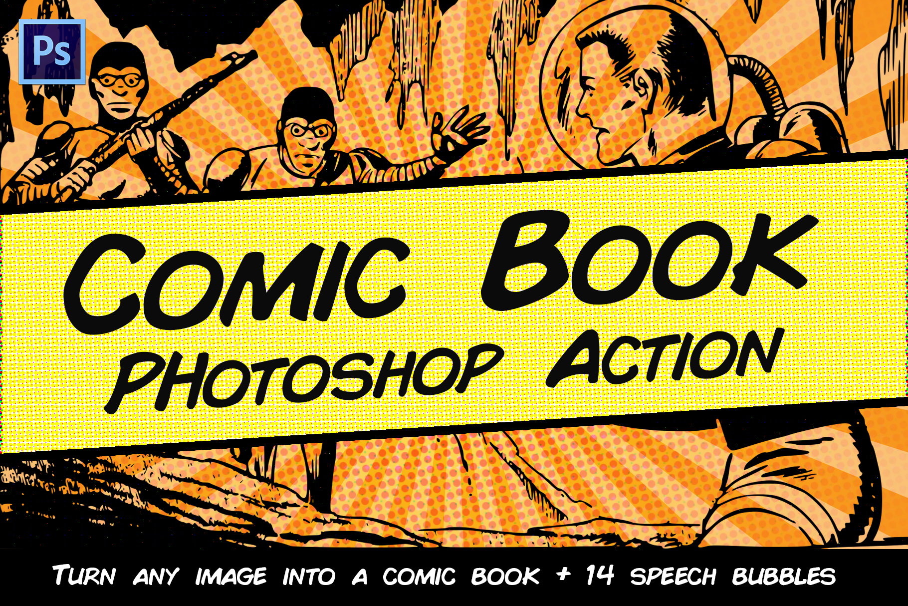 Comic Book Photoshop Action example image 1