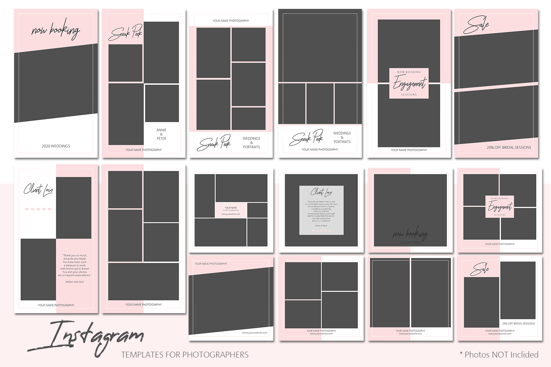 Instagram Templates Bundle for Photographers example image 2