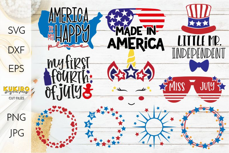 4th of July Bundle SVG - Big Patriotic Cut files Bundle example image 2