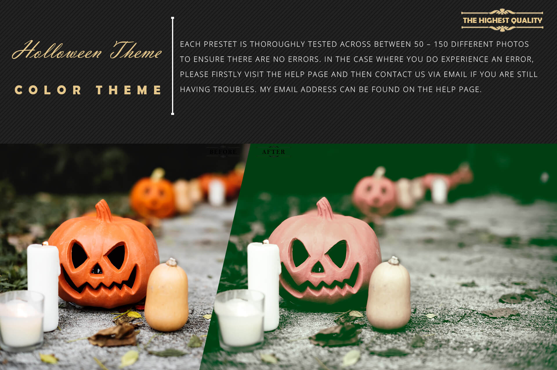 Halloween Theme Collection Color Grading Lightroom presets example image 6