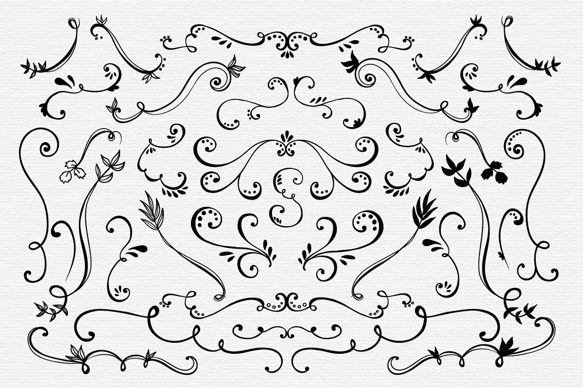 Hand Drawn Vector Elements Pack example image 4