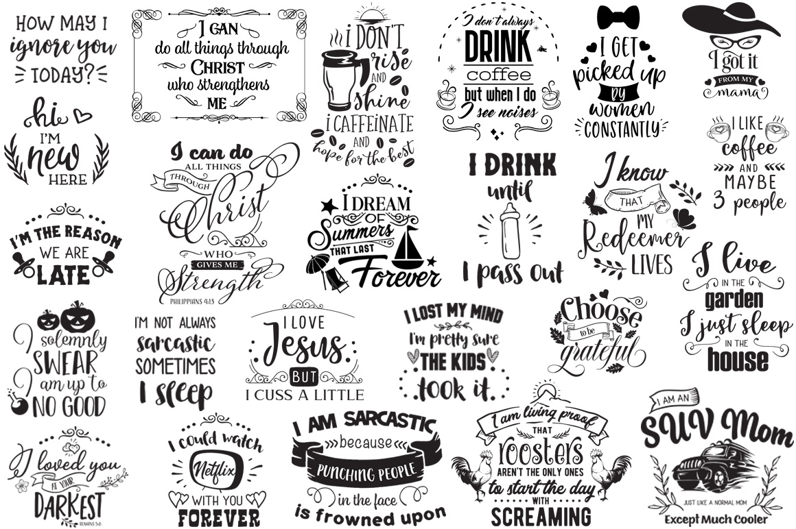 The Ginormous SVG Cut Files Bundle example image 12