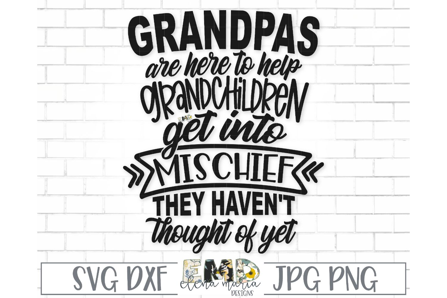 Grandpa Grandchildren SVG File | Mischief Fathers Day Svg example image 2