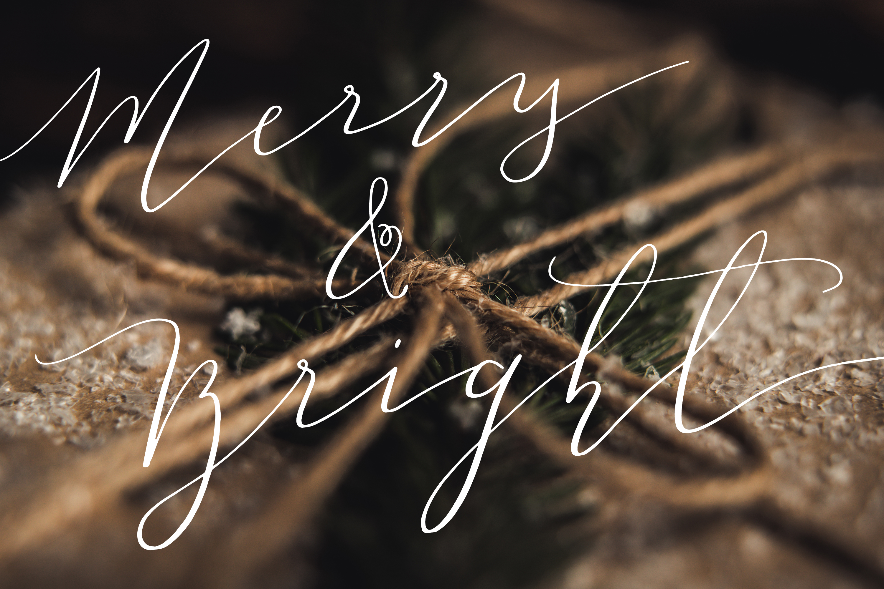 55 Hand Lettered Holiday Overlays example image 6