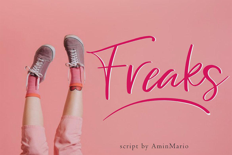 Freaks - Script Font example image 1