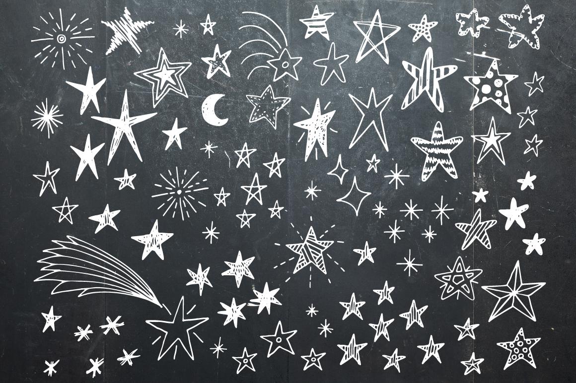 Hand drawn stars + frames example image 1