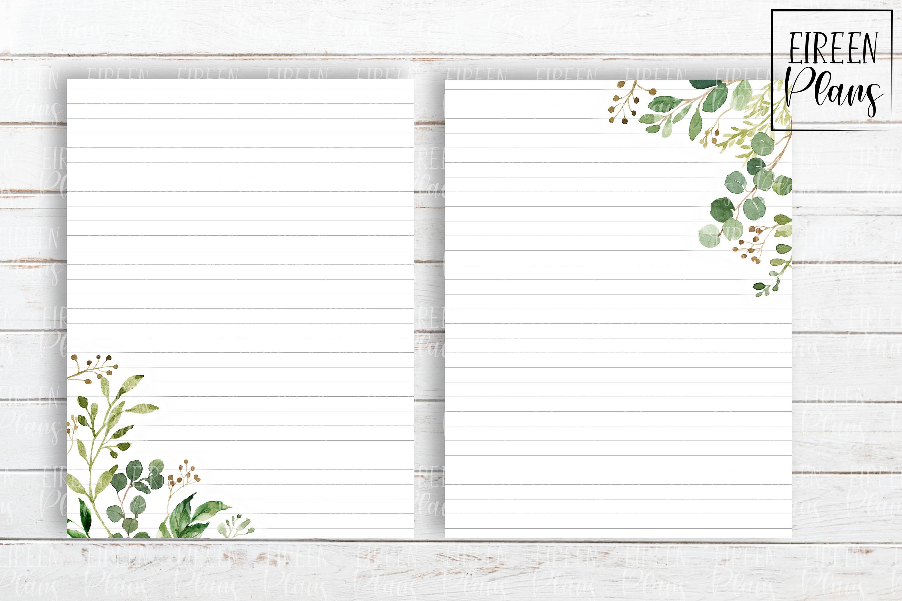 Set of greenery notes for the Classic Happy Planner example image 3
