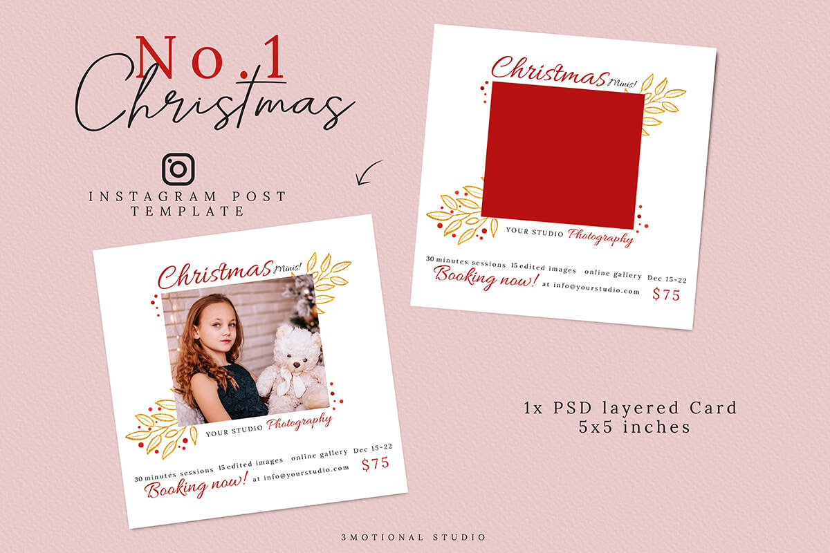 Christmas Mini Sessions Template 04 example image 2