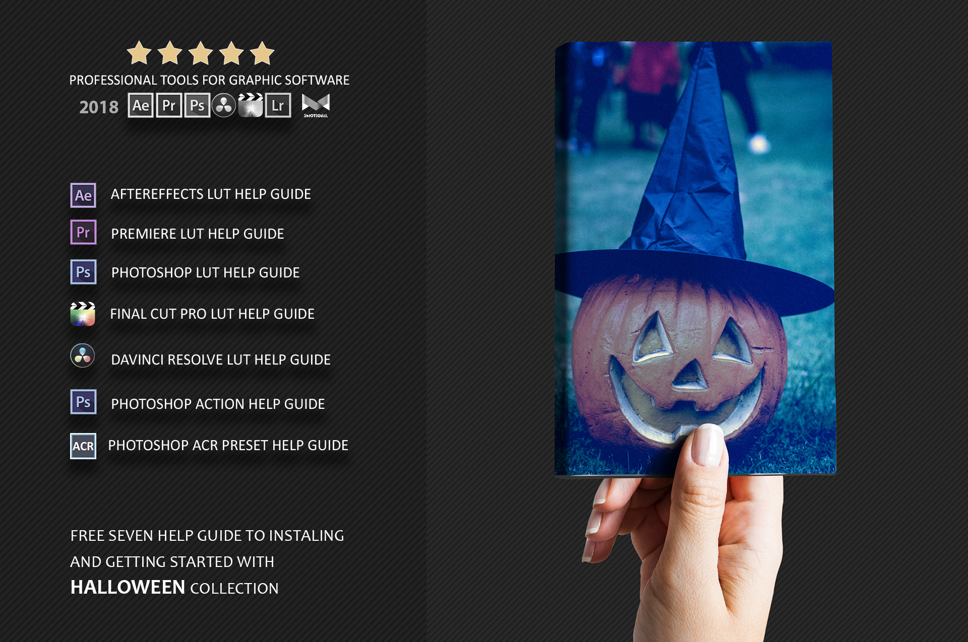 Halloween Theme color grading Photoshop Actions example image 3