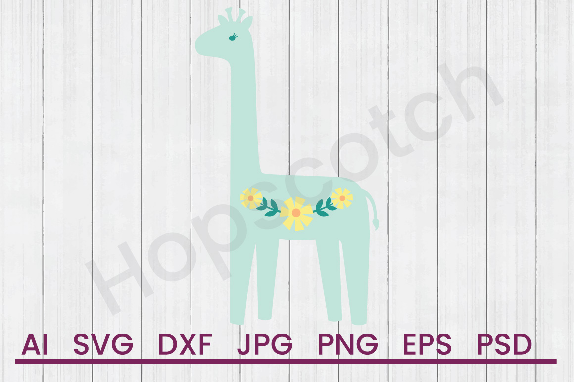 Giraffe SVG, DXF File, Cuttatable File example image 1