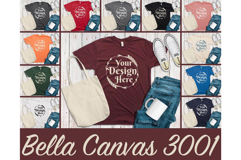 Huge Bundle Shirt Mockup, Bella Canvas, Gildan, Anvil Mockup example image 10