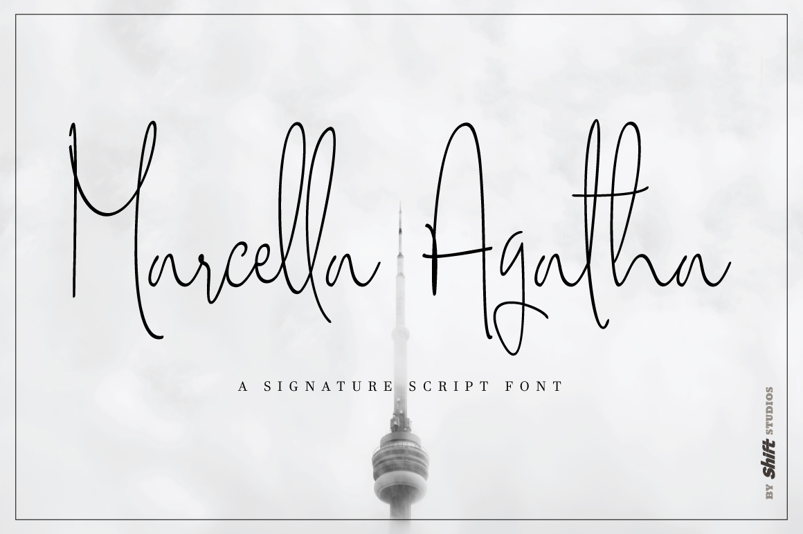 Marcella Agatha Typeface example image 1